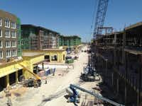 Legacy West Urban Village is under construction at the Dallas North Tollway and Legacy Drive in Plano. (Steve Brown)