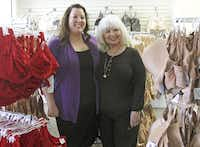 "Jessica Snyder (left), who owns the shop with her father, took over operations about five years ago, roughly the same time that store manager Kandy Kennemer switched from teacher to ""bra whisperer.""(Kirsten Kearse - Staff Photographer)"