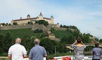 The Fortress Marienberg, is seen from the Scenic Jewel river ship as it cruises on the Main River into the town of Würzburg.