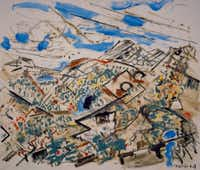 John Marin (1870-1953) Tunk Mountains, Maine, 1948  Oil on canvas  © Estate of John Marin / Artists Rights Society (ARS), New York Collection of Louisiana Art & Science Museum, Baton Rouge....2011-11-02(Estate of John Marin / ARS, NY)