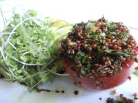 At the Market at Alhambra, Chef James Canter presents demos using fresh, local ingredients. Here's a quinoa salad.