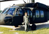 Elizabeth McCormick underwent training at Fort Rucker, Ala. McCormick says she met the same standards as men when she qualified to fly Black Hawk helicopters.