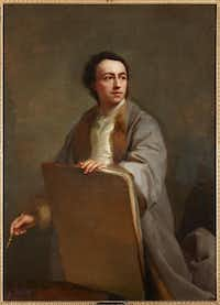 Anton Raphael Mengs, Self Portrait, c. 1760. Oil on panel.Courtesy  -  House of Alba Collection