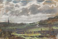 Claude Monet, The Seine Estuary, about 1864-70. Pastel on brown wove paper affixed to buff paper, affixed to canvas; 9-5/16 x 14-1/4 in. Lent by Dr. Esmond Bradley Martin.