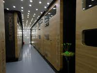 The rooms at Sleepbox Tverskaya are actually pods the size of a train cabin. The hotel has a minimalist Japanese-meets-Scandinavian design aesthetic