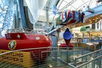 A replica of the Breitling Orbiter 3, the first balloon to circle the globe nonstop, sits in the Anderson-Abruzzo Albuquerque International Balloon Museum.  The museum also has a replica of the Double Eagle II, which made the first trans-Atlantic flight and the Double Eagle V, which made the first trans-Pacific flight.