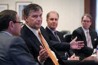 Dallas Mayor Mike Rawlings shared his outlook at The Dallas Morning News Economic Summit on Wednesday.