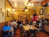 The interior of Lasyone's Meat Pie Restaurant in Natchitoches, La., hasn't changed much -- ever.