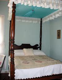 A canopy bed in the main house at Oakland Plantation, near Natchitoches, La.