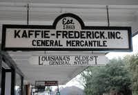 Kaffie-Frederick General Mercantile in Natchitoches, La., opens early. The store caters to locals who need hardware supplies as well as tourists looking for souvenirs.