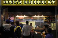 Dickey's Barbecue Pit had the longest lines Wednesday during a preview of new dining options at Love Field.