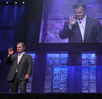Mary Kay CEO David Holl gave an OK sign after running through the speech he'll make on opening day of the convention.