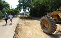 Street repairs and new construction are happening all over the West Dallas neighborhood near the new Margaret Hunt Hill Bridge.