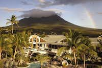 The Four Seasons Nevis sits on land that was once a coconut plantation in the shadow of Mount Nevis.