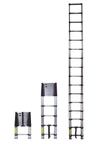 Xtend+Climb telescoping ladders work like extension ladders but collapse small enough to fit into a car trunk.