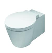 Starck white - Designed by Philippe Starck, the Starck 1 wall-mount toilet from Duravit is an eye-catching addition to a powder room. Its seamless, round design conceals all bolts and caps. From $2,800 at Elegant Additions and TKO Associates, both in Dallas, and Ferguson Bath, Kitchen & Lighting Gallery, multiple locations.Rudi Schmutz - Duravit