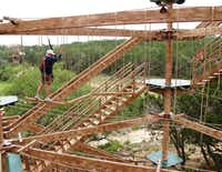 Test your skills on the Canopy Challenge at Natural Bridge Caverns near New Braunfels, Texas.