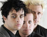 Members of Green Day, left to right: Billie Joe Armstrong, Tre Cool and Mike Dirnt