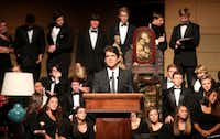 Author Mark Shriver for a mic check rehearsal prior to the Celebration of Reading at the Meyerson Symphony Center in Dallas, Texas on Monday, October 7, 2013.