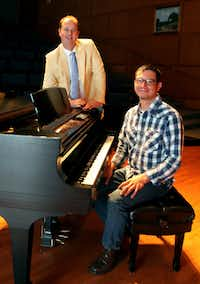 Christian Bester, artistic director, and Jason Smith, pianist, for Voces Intimae are photographed in the O'Donnell Recital Hall on the SMU campus in University Park, Texas on Tuesday, October 8, 2013.