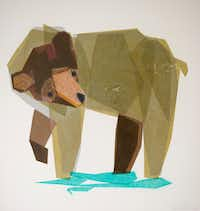 Gooden's art is inspired by nature and wildlife.