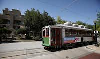 The McKinney Avenue Trolley in Dallas, Texas on Wednesday, August 29, 2012.