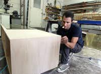 Barsotti makes furniture from reclaimed resources including barn wood and old plank flooring.