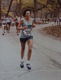 Mary Ann Miller runs her first marathon -- the White Rock Marathon.