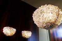 Ben Fischer took a particular interest in the light fixtures. These are in the master bedroom's lavatory.