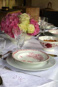 Table set for alfresco luncheon at Friedman's French home(Courtesy Audrey Friedman -  Audrey Friedman )