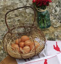 Antique French wire basket for gathering eggs(Courtesy Audrey Friedman -  Audrey Friedman )