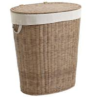 When jeans and t-shirts pile up, a handsome hamper keeps them hidden. The Collin hamper is 25 inches tall and hand-woven of moisture-resistant, synthetic rattan with a fabric liner. $79.95 in light or dark brown at local Pier 1 stores and pier1.com.Pier 1 Imports -  Pier 1 Imports