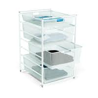 Additional drawer space is always needed in a dorm room, and the Elfa white mesh, Start-a-Stack will hold extra clothes and accessories. The fine mesh, smooth-gliding drawers make everything inside easy to see and access. 29 inches tall. $119 at The Container Store and containerstore.com.(The Container Store -  The Container Store )