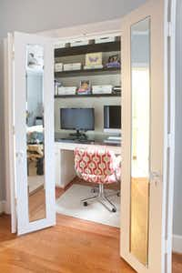 Inspired by this home office built by Gilliam and pictured on Houzz.com, the homeowners decided to create a similar workspace.
