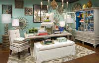 Decor accents at the store are grouped along with furniture in coordinated settings and arranged for visual interest.Dan Piassick  -  Piassick Photography