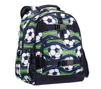 Available in four sizes, the Mackenzie collection of backpacks features patterns for boys and girls. The packs have padded, contoured straps and a padded back panel. Personalization is extra. $23 to $69.50 on sale at Pottery Barn Kids and potterybarnkids.com.(Pottery Barn Kids -  Pottery Barn Kids )