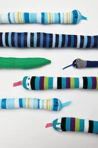 For kids who know how to use a sewing machine or would like to learn, craft author Brenna Maloney suggests starting with a snake.