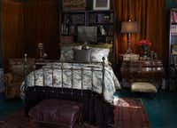 Not every room has to be clothed in white linen to suit the Francophile. Westbrook designed the toile on a guest bed.Keith Scott Morton and Eric Richards  -  CICO Books