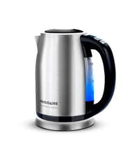 Heating water for tea or instant soup is a snap with Frigidaire's stainless steel, programmable kettle. Its 360-degree swivel base with cord wrap keeps surfaces tidy. $89.99 at area Ace Hardware stores and acehardware.com.(Frigidaire - Frigidaire Professional)
