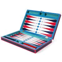 Lacquered up: Throwing a game night for the Fourth? Here's a classic yet playful take on backgammon. $395 at Jonathan Adler, Dallas.(Jonathan Adler -  Jonathan Adler )