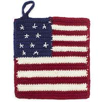 Get a grip: Some like it hot so they can pull out their patriotic crocheted potholders. $10 at Sur La Table, Dallas and Plano.(JohnsonRauhoff -  Sur La Table )