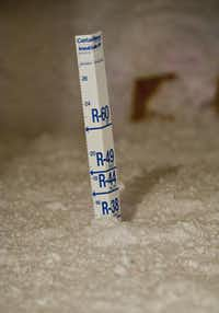 About 14.5 inches of blow-in cellulose insulation create an R-value of 38 the attic of each Coventry home.