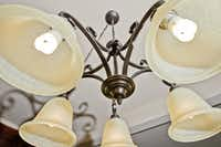 Compact Florescent Light (CFLs)bulbs are installed in the majority of the light fixtures at the Kelly house in Frisco.