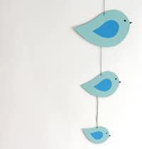 The template for Sarah Goldschadt's paper bird mobile can be used for a variety of crafts.