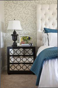 The mirrored nightstands in the master bedroom were a splurge.