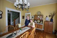 Jackie and Doug Sweat are pictured in the dining room at their home on Junius Street in Munger Place  on Tuesday, August 27, 2013.