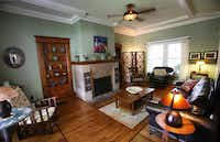 The living room of Jackie and Doug Sweat's home on Junius Street in Munger Place  on Tuesday, August 27, 2013.