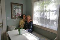 Jackie and Doug Sweat are pictured in the breakfast nook of their home on Junius Street in Munger Place  on Tuesday, August 27, 2013.