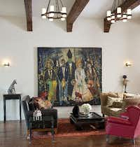 """That Special Moment"" by John Alexander is on display at Anne Stodghill's home."