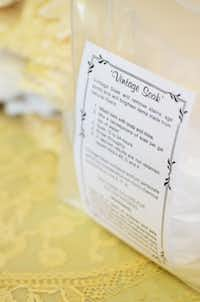 Her product line also includes a linen soak composed of natural ingredients that will not harm old, fragile textiles.